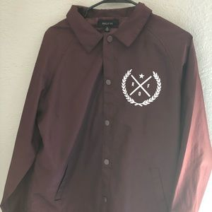 Ring Of Fire Burgundy Collared Jacket